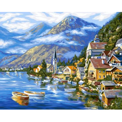 Картина по номерам Dankotoys  Австрiйский пейзаж  (KpN-01-01)