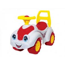 Машинка-каталка Технок для прогулок (белая) (3503)