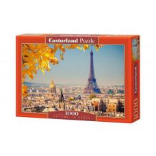 Пазлы  Castorland Осень в Париже , 1000 элементов (С-103089)