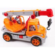 Игрушка  Автокран ТехноК , оранжевый 3695