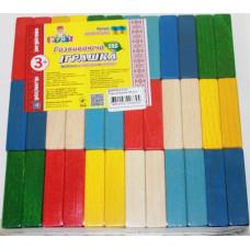 Брусочки разноцветные Руди (36 деталей) Ду-64
