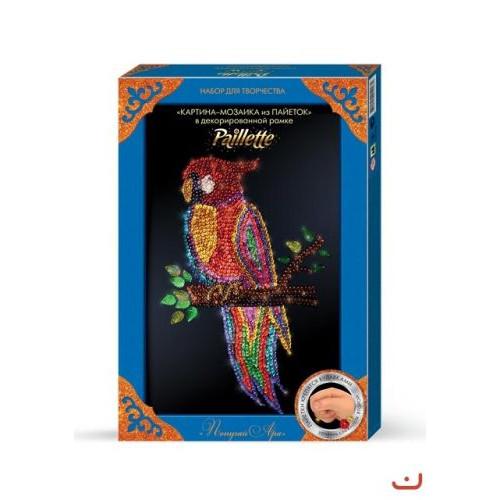 "Набор для творчества ""Картина-мозаика из пайеток: попугай"" Пм-01-10"
