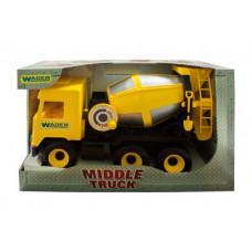 Бетономешалка  Middle truck (желтая) Wader 39493