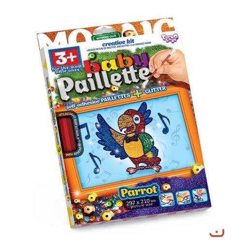 "Картина-мозаика из пайеток ""Baby Paillette: Попугай"" PG-01-05"