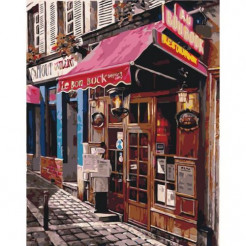 Картина за номерами Ідейка Улюблений магазинчик 50 x 40 (КНО2195)