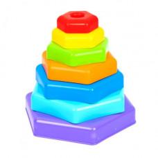 Игрушка Wader Радужная пирамидка (39354)