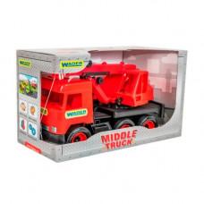 Автокран  Middle truck (красный) Wader  39487