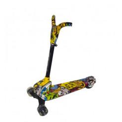 Самокат трехколесный  Best Scooter  желтый YW0181
