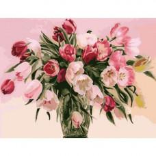 Картина по номерам Идейка Тюльпаны в вазе 50 x 40 (КНО1072)