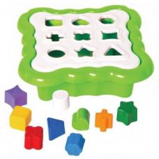 Игрушка-сортер  TIGRES Умные фигурки (зеленый) 39521