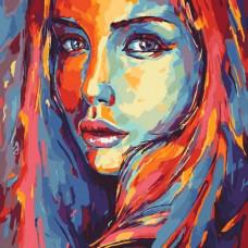 Картина по номерам Идейка Яркий силуэт 2 40 x 40 KHO2649