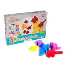"""3D пазлы """"Животные"""" (32 эл) 39355"""