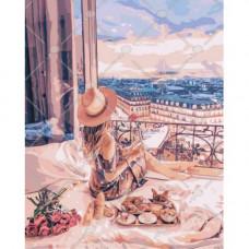Картина по номерам Идейка Отдых в Париже 40 x 50 (КНО4544)