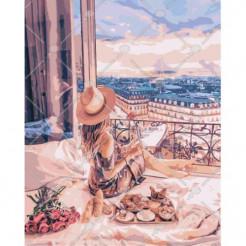 Картина за номерами Ідейка Відпочинок в Парижі 40 x 50 (КНО4544)