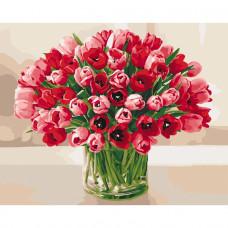 Картина за номерами Ідейка Пекучі тюльпани 50 x 40 КНО3058