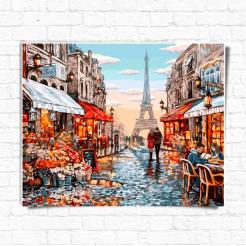 Картина за номерами Dankotoys Квітковий магазин Парижа KpN-01-09U (50х40) У коробці