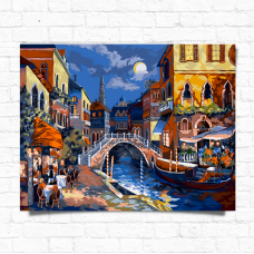 Картина по номерам Dankotoys Ночная Венеция (KpN-01-02) 40х50 В коробке