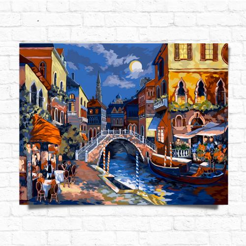 Картина за номерами Dankotoys Нічна Венеція 50 x 40 (KpN-01-02)