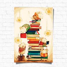 Картина по номерам Идейка Маленькие читатели 35 х 50 (КНО4111)