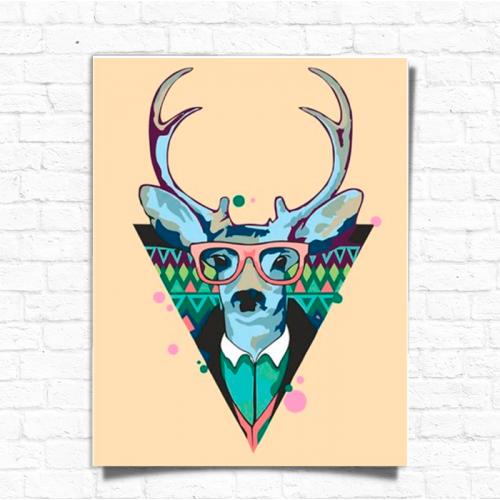 Картина за номерами Rosa Cool deer ★★ ☆ (N0001364)