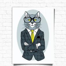 Картина по номерам Rosa Start Fashion Cat 35х45 (N00013266)