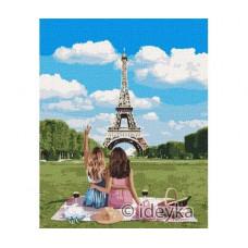 Картина по номерам Подружки в Париже 40 х 50 (KHO4790)