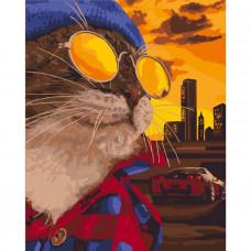Картина по номерам Идейка Дерзкий кот 40х50 (KHO4127)