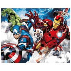 Картина по номерам Marvel Comics Мстители в атаке Brushme (GX25854)