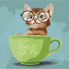 Картина за номерами Ідейка Lovely kitten  (КНО4057)