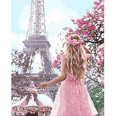 Картина по номерам Идейка Влюблённая в Париж 40х50 (KHO4568)
