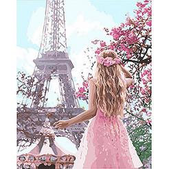 Картина по номерам Ідейка Закохана в Париж KHO4568 40*50