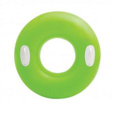 Надувний круг для плавання Intex (зелений) (59258)