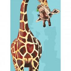 Картина по номерам Идейка Веселый жираф (КНО4061)