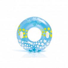 Круг надувний Intex Зірочки 91 см (блакитний) (59256)
